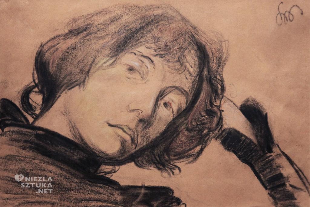 Stanisław Wyspiański, Portret Dagny Juel-Przybyszewskiej, malarstwo polskie, sztuka polska, Niezła Sztuka