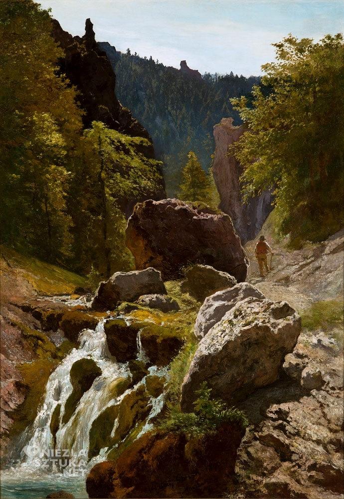 Wojciech Gerson, Dolina Bramki w Tatrach, malarstwo polskie, sztuka polska, Niezła Sztuka