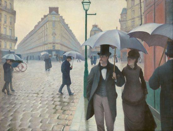 Gustave Caillebotte Paryż Deszczowy dzień