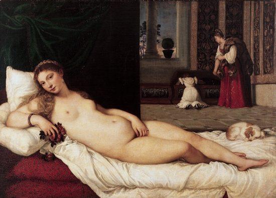 Tycjan, Wenus z Urbino, akt w malarstwie, Niezła sztuka