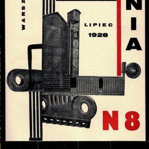 Dźwignia nr 8, 1928, okładka Karola Hillera, z kolekcji Ryszarda Cichego, fot. Miejska Galeria Sztuki w Łodzi