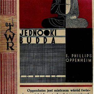 Edward Phillips Oppenheim Jednooki Budda, okładka Karola Hillera, z kolekcji Ryszarda Cichego, fot. Miejska Galeria Sztuki w Łodzi