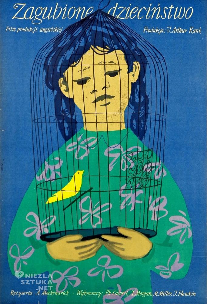 Jan Lenica, Zagubione dzieciństwo, plakat, niezła sztuka