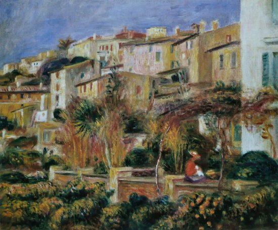 Pierre-Auguste Renoir tarasy w Cagnes | 1905, kolekcja prywatna, fot. wikipedia.org