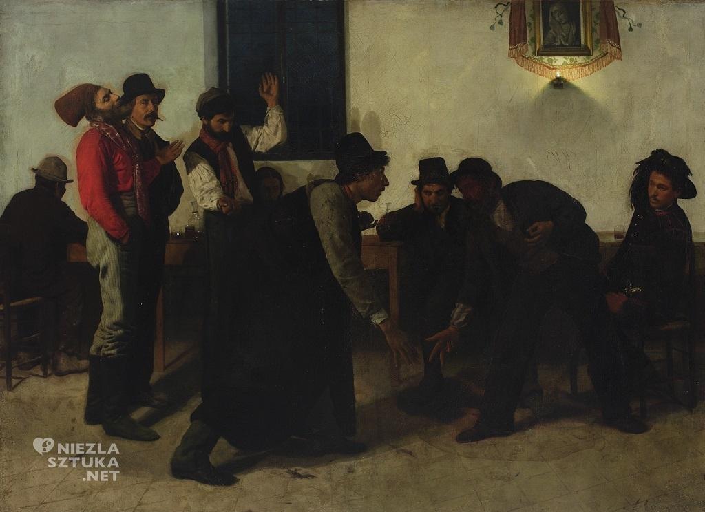 Aleksander Gierymski, Gra w mora, Muzeum Narodowe w Warszawie, polska sztuka, Niezła sztuka