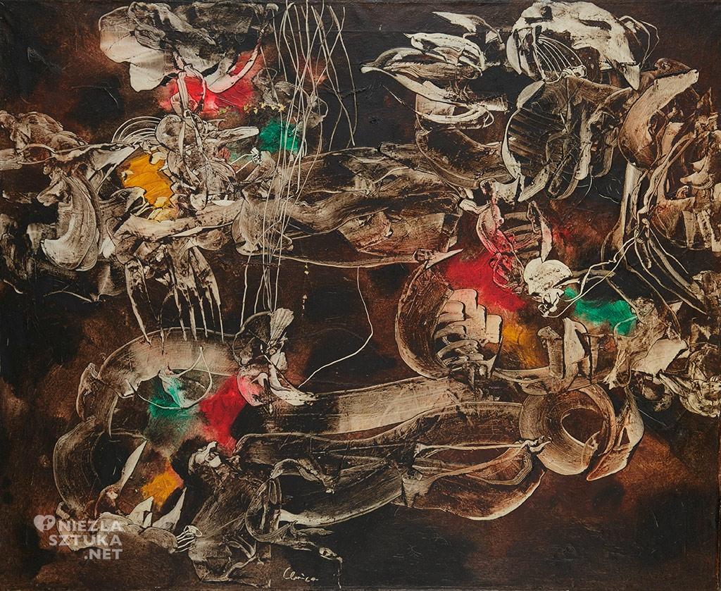 Alfred Lenica <em>Kwiecień mistyfikator</em>, olej, płótno, 1959-61, Muzeum Górnośląskie w Bytomiu