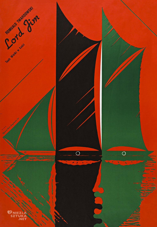 Lord Jim Teatr Wielki w Łodzi, niedatowany, offset barwny, papier 98x67,5 cm