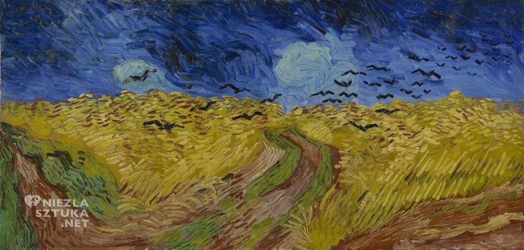 Vincent van Gogh Pole pszenicy z wronami, ekspresjonizm, Niezła Stuka