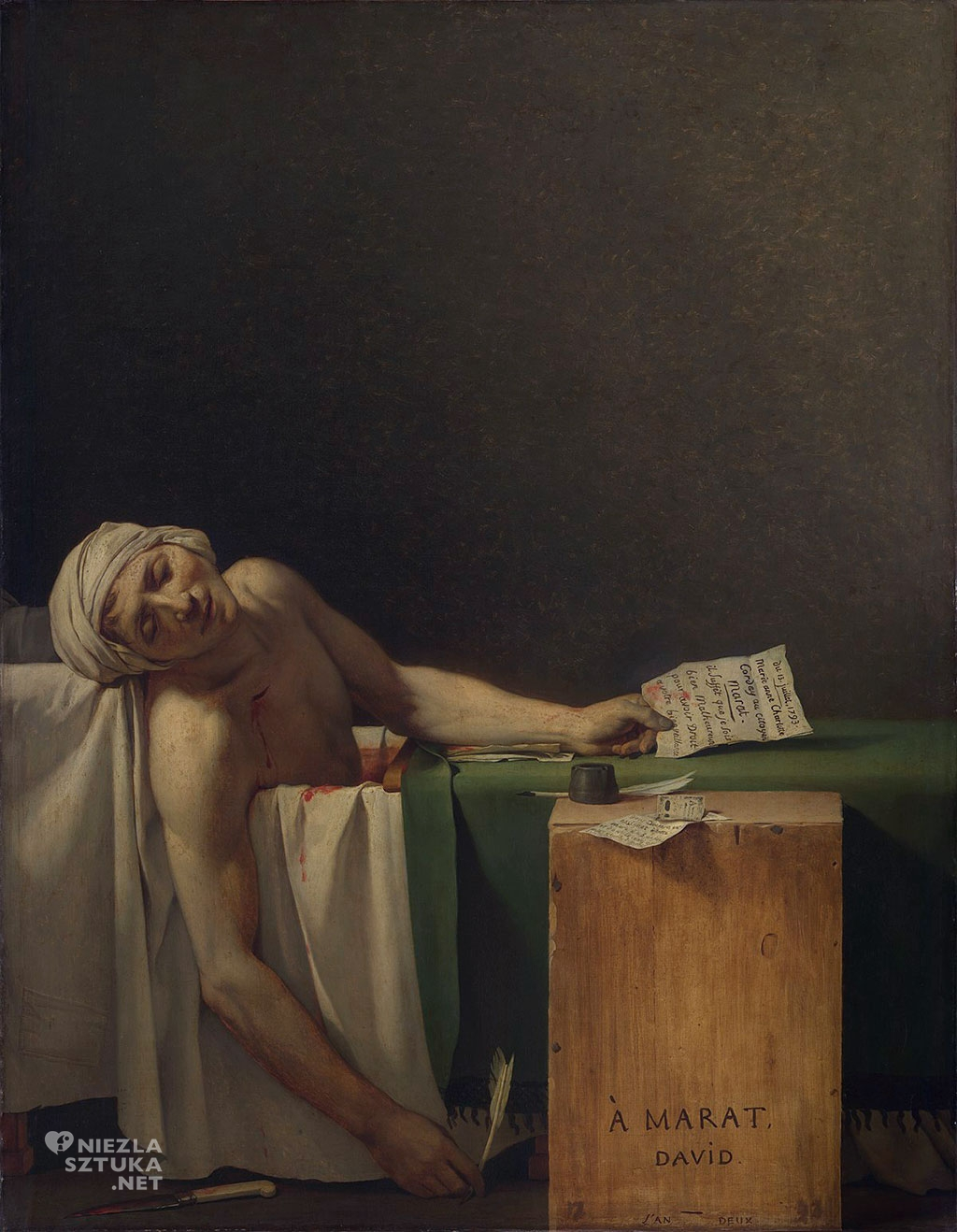 Jacques Louis David Śmierć Marata