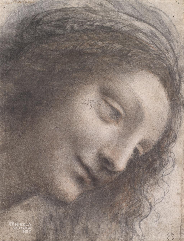 Leonardo da Vinci Głowa Dziewicy