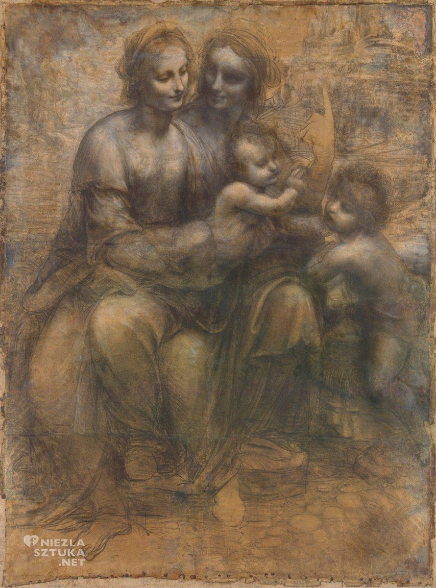 Leonardo da Vinci, Święta Anna Samotrzecia - karton, 1501