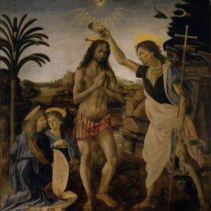 Andrea del Verrocchio Chrzest Chrystusa