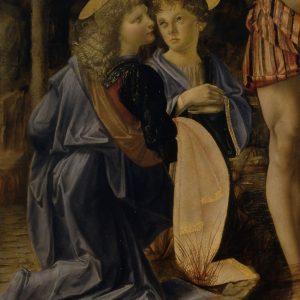 Leonardo da Vinci Andrea del Verrocchio Chrzest Chrystusa