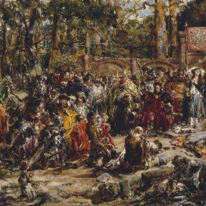 Jan Matejko, Chrzest Litwy, malarstwo historyczne, sztuka polska, malarstwo polskie, Niezła sztuka