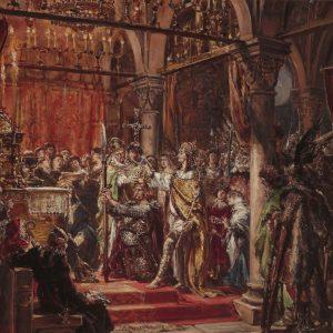 Jan Matejko, Koronacja pierwszego króla, malarstwo historyczne, sztuka polska, malarstwo polskie, Niezła sztuka