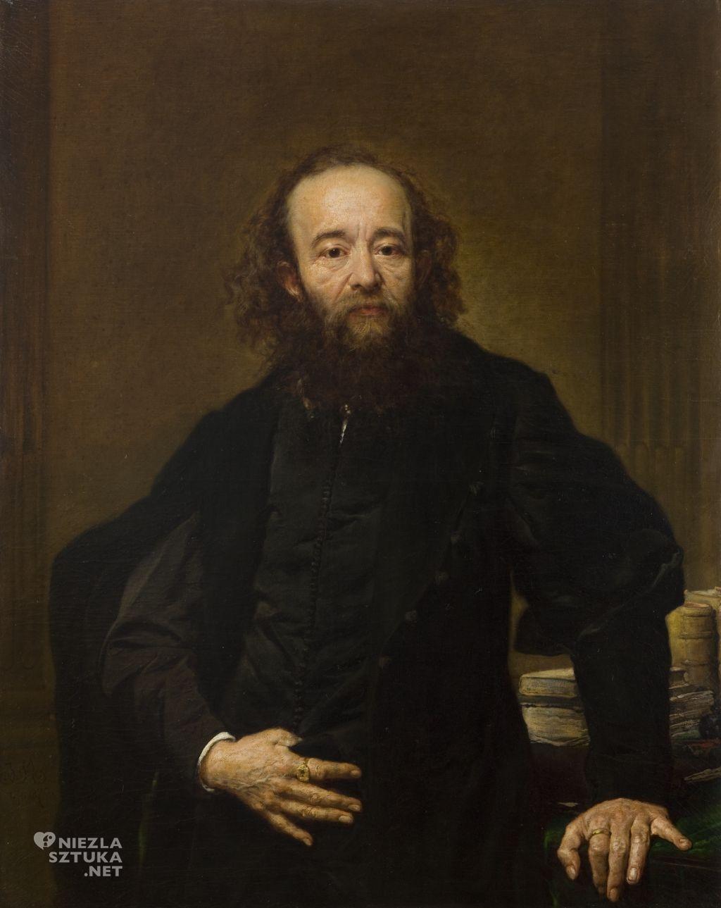 Jan Matejkom Portret Leonarda Serafińskiego, sztuka polska, malarstwo polskie, Niezła sztuka