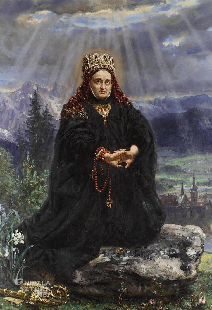 Jan Matejko, Św. Kinga modląca się pośród sądeckich gór, sztuka polska, malarstwo polskie, Niezła sztuka