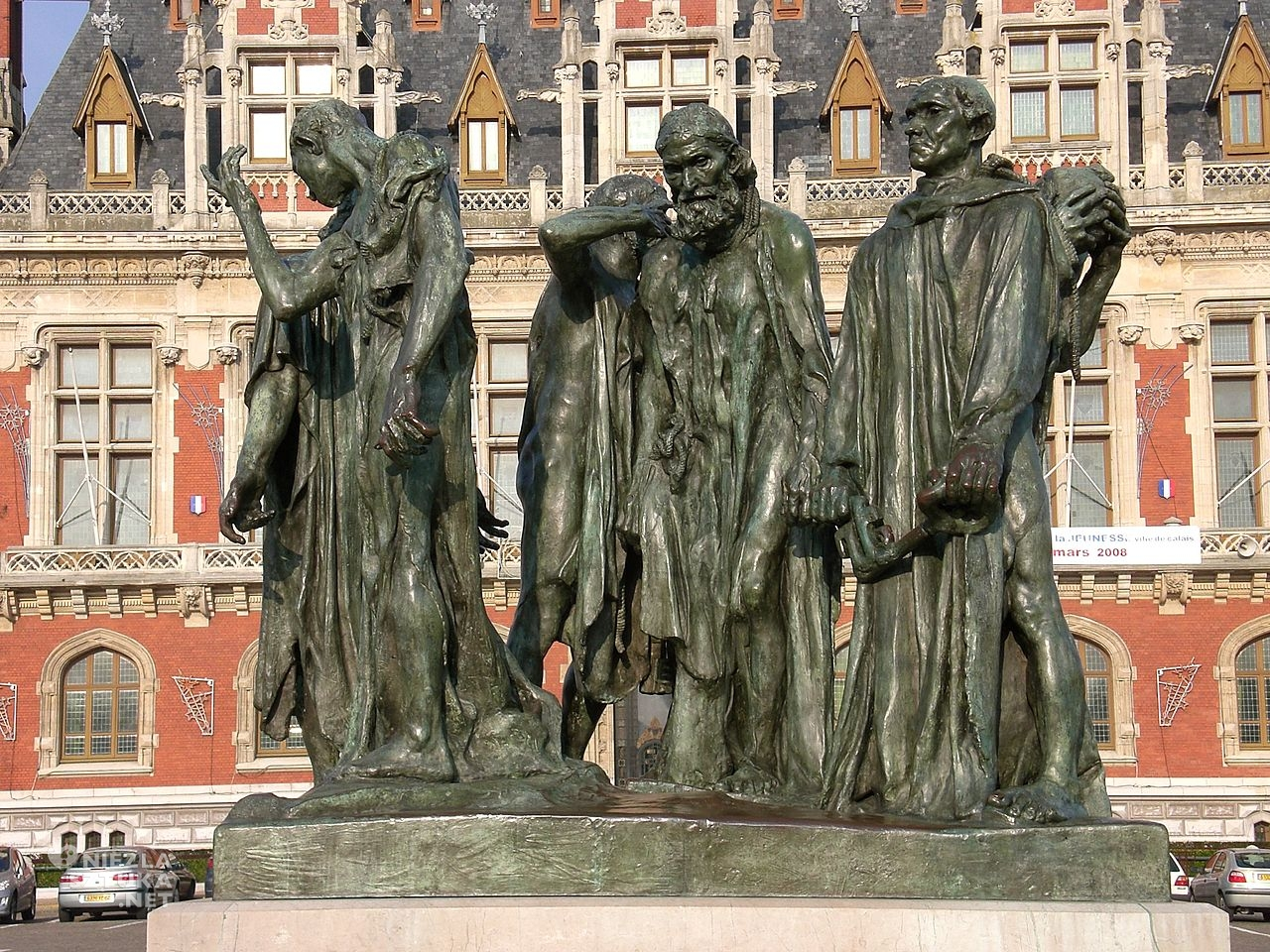 Augsute Rodin, Mieszczanie z Calais, 1884-1889, źródło : wikipedia.org