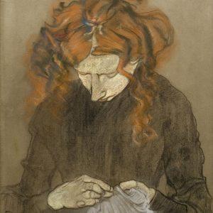 Stanisław Wyspiański Portret Pani Solskiej