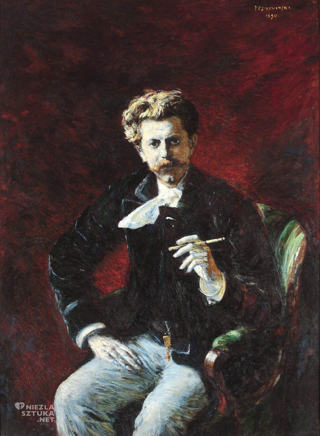 Władysław Podkowiński Portret Czesława Jankowskiego