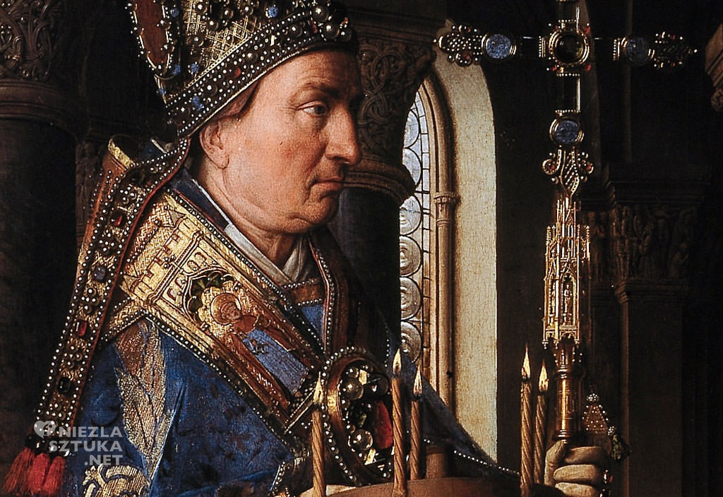 Jan van Eyck, Madonna kanonika van der Paele , detal | 1434-1436, Groeningemuseum, Brugia