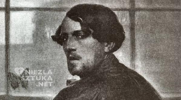 Edward Okuń Autoportret z motylem, Autoportret, sztuka polska, Niezła sztuka