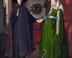 Jan van Eyck, Portret Arnolfinich, 1434, National Gallery, Londyn, Niezła Sztuka