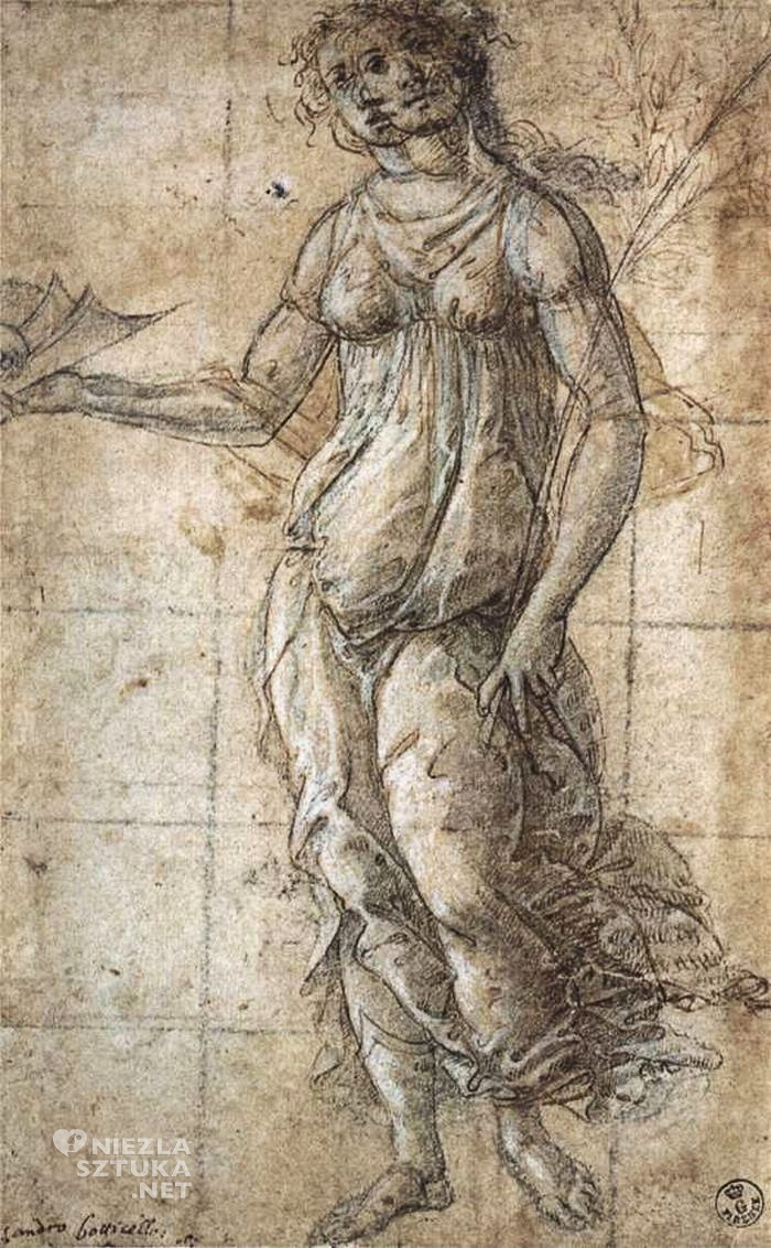 Sandro Botticelli, Simonetta Vespucci jako Pallas Atena | ok. 1490, Galleria degli Uffizi, Florencja