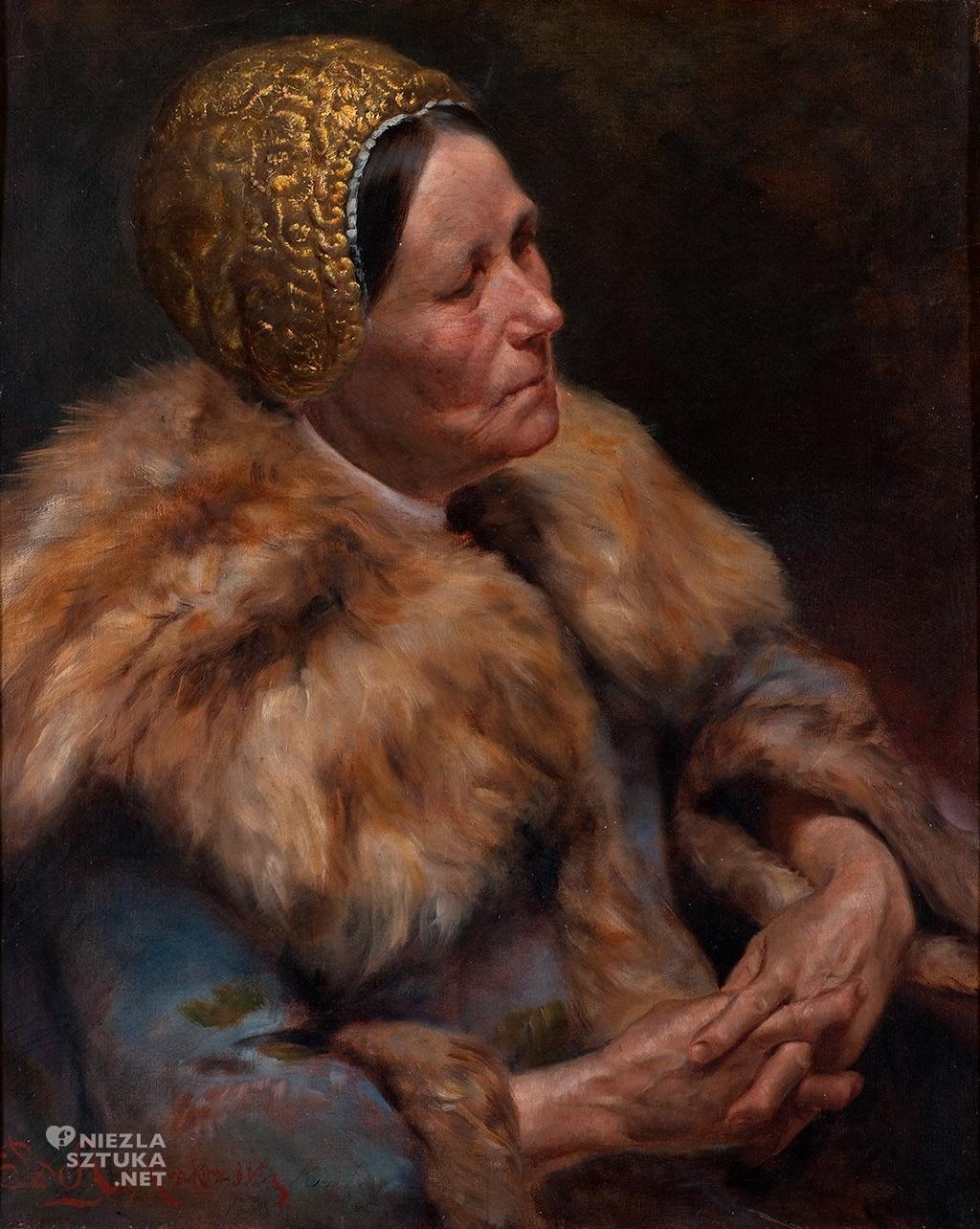 Abramowicz Bronisław, <em>Studium kobiety w żydowskim czepcu, </em>   1885, Muzeum Sztuki w Łodzi, Muzeum Pałac Herbsta