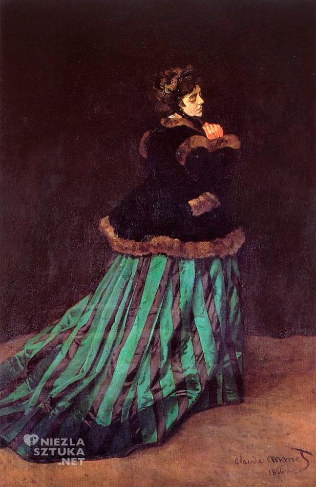 Claude Monet, Kobieta w zielonej sukni
