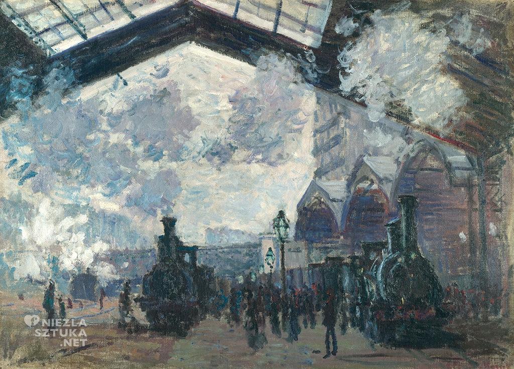 Claude Monet Dworzec Saint Lazare
