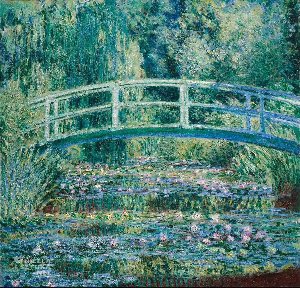 Claude Monet Japoński mostek. Staw z liliami wodnymi, Niezła sztuka