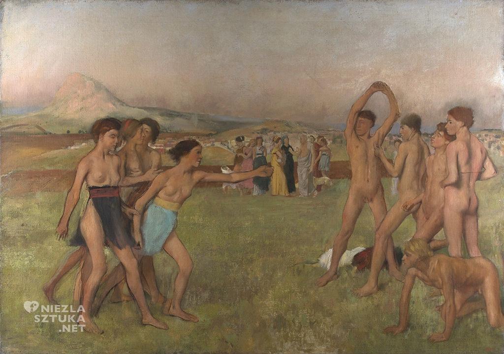 Edgar Degas, Dziewczęta spartańskie wyzywające chłopców do walki, Niezła sztuka