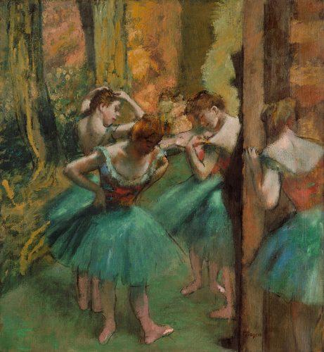 Edgar Degas,  Tancerki w różu i zieleni| ok.1890, Metropolitan Museum of Art