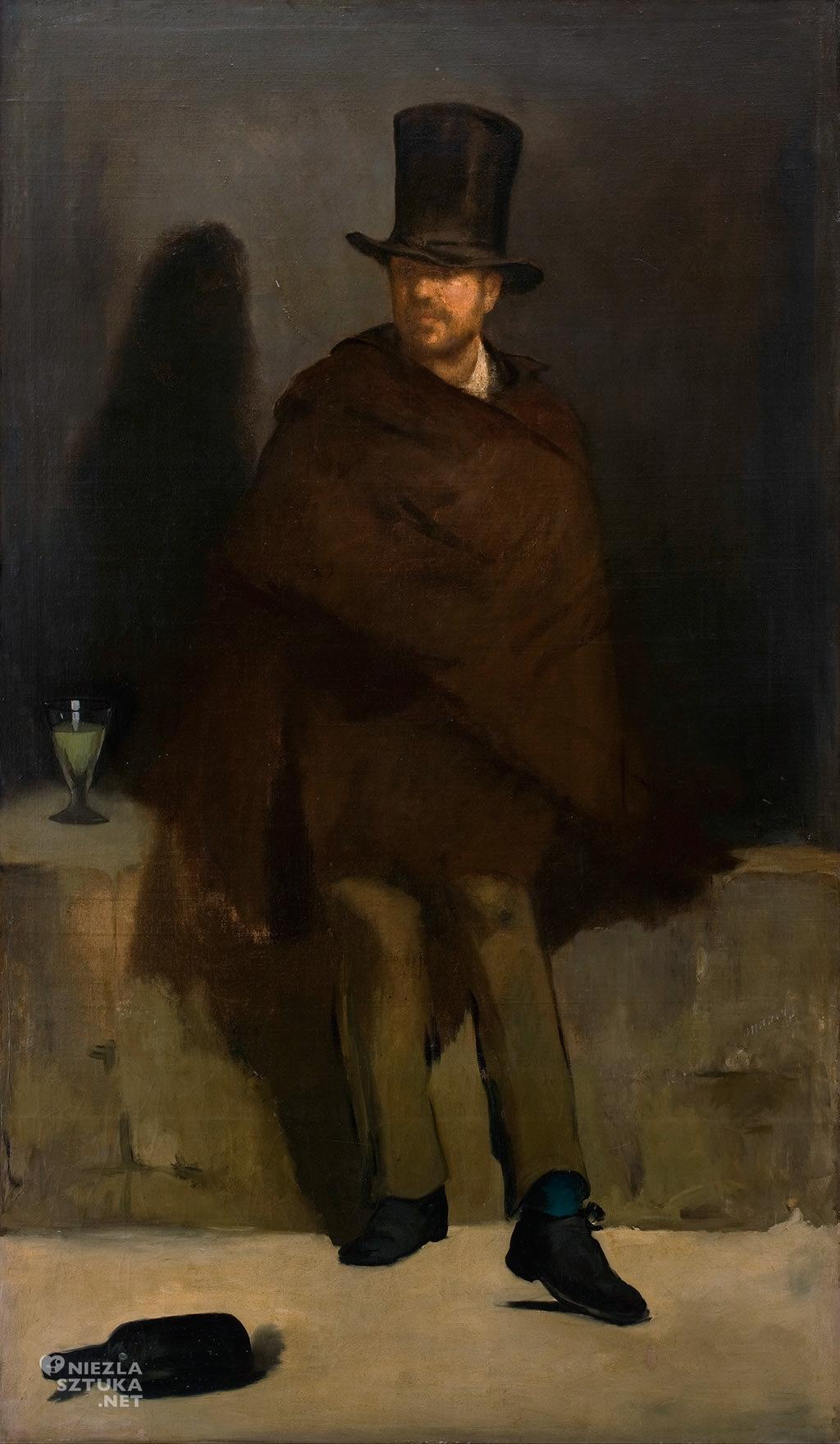 Édouard Manet, Pijący absynt |1859, olej, płótno, Ny Carlsberg Glyptotek w Kopenhadze