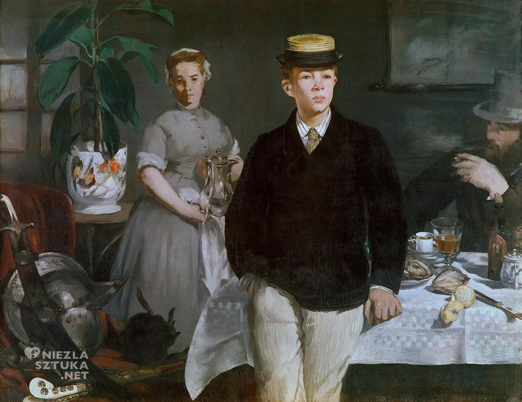 Édouard Manet, Śniadanie w pracowni |1868, olej, płótno, Nowa Pinakoteka w Monachium