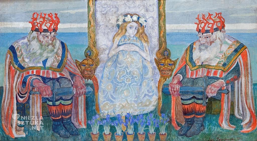 Jan Rembowski, Zaczarowana dzieweczka  1913, olej, płótno, Muzeum Pałac Herbsta, Oddział Muzeum Sztuki w Łodzi