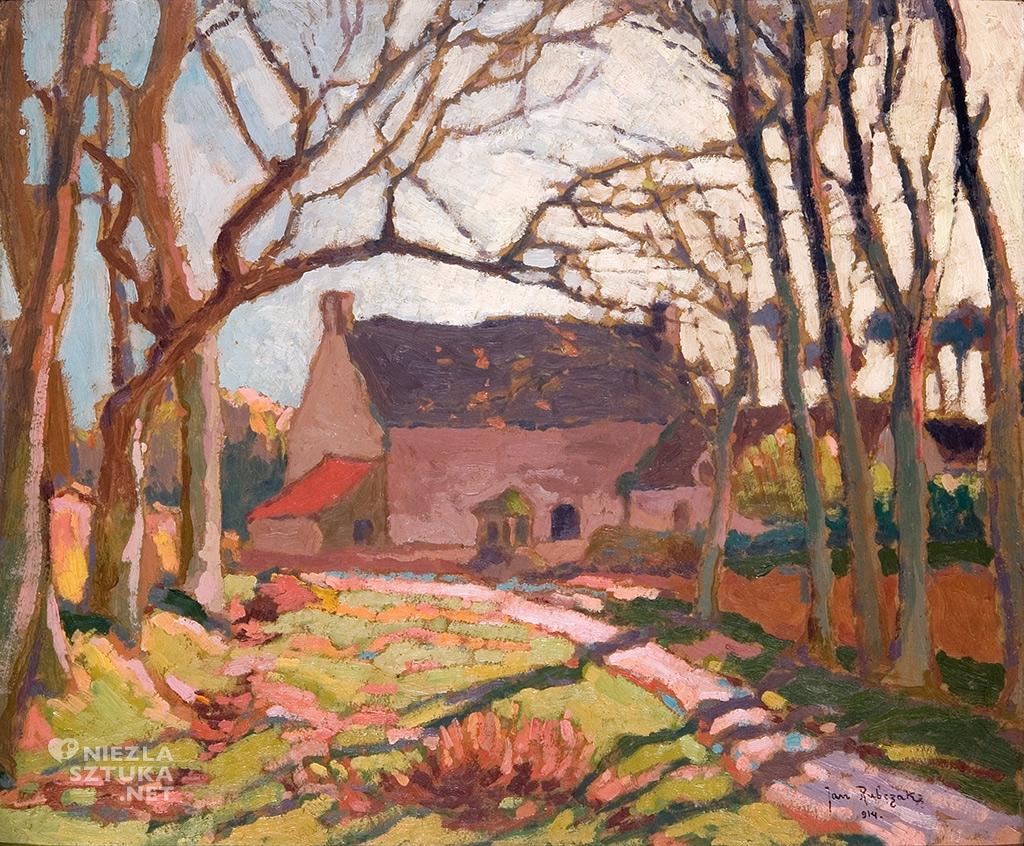 Rubczak Jan, Pejzaż z kamiennym domem | 1914, Muzeum Sztuki w Łodzi, Muzeum Pałac Herbsta