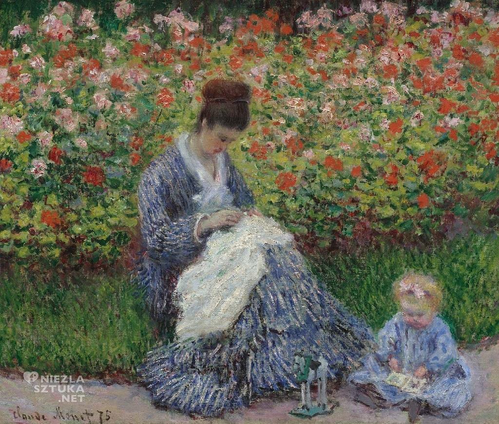 Claude Monet Camille Monet z dzieckiem