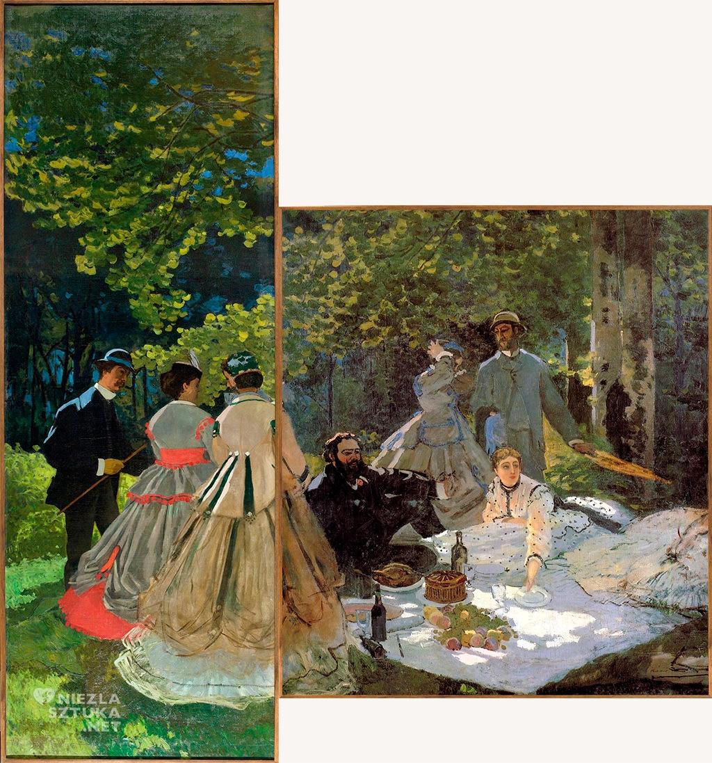 Claude Monet śniadanie na trawie, impresjonizm, Niezła sztuka