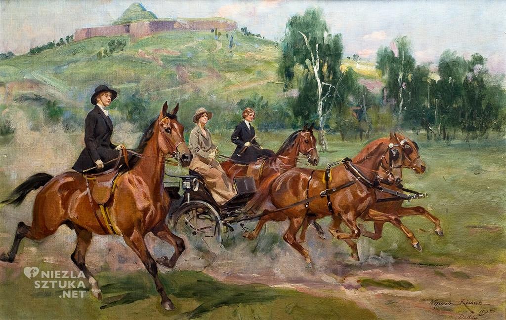 Wojciech Kossak Zofia, Maria i Róża Tarnowskie