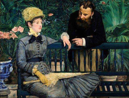 Édouard Manet, W oranżerii, impresjonizm
