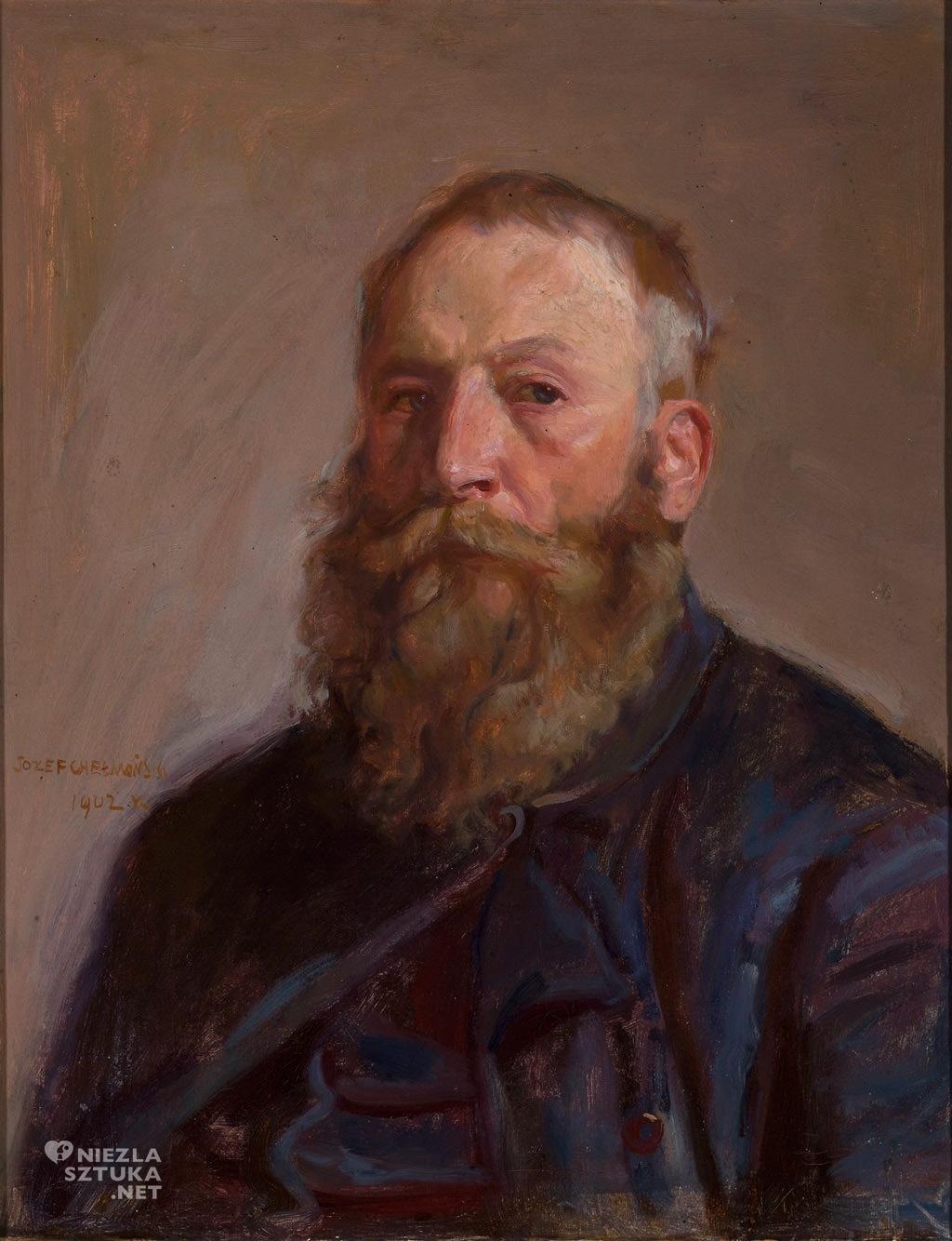Józef Chełmoński, Autoportret, artysta polski, sztuka polska, Niezła sztuka