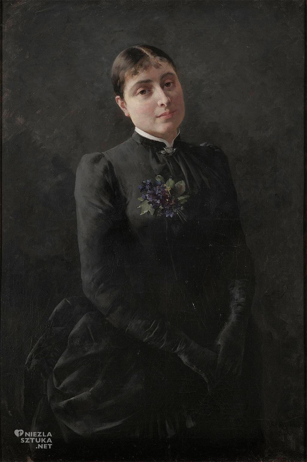 Stanisław Reichan Reychan, Portret Marii Chełmońskiej, żona malarza, sztuka polska, kobiety w sztuce, Niezła sztuka