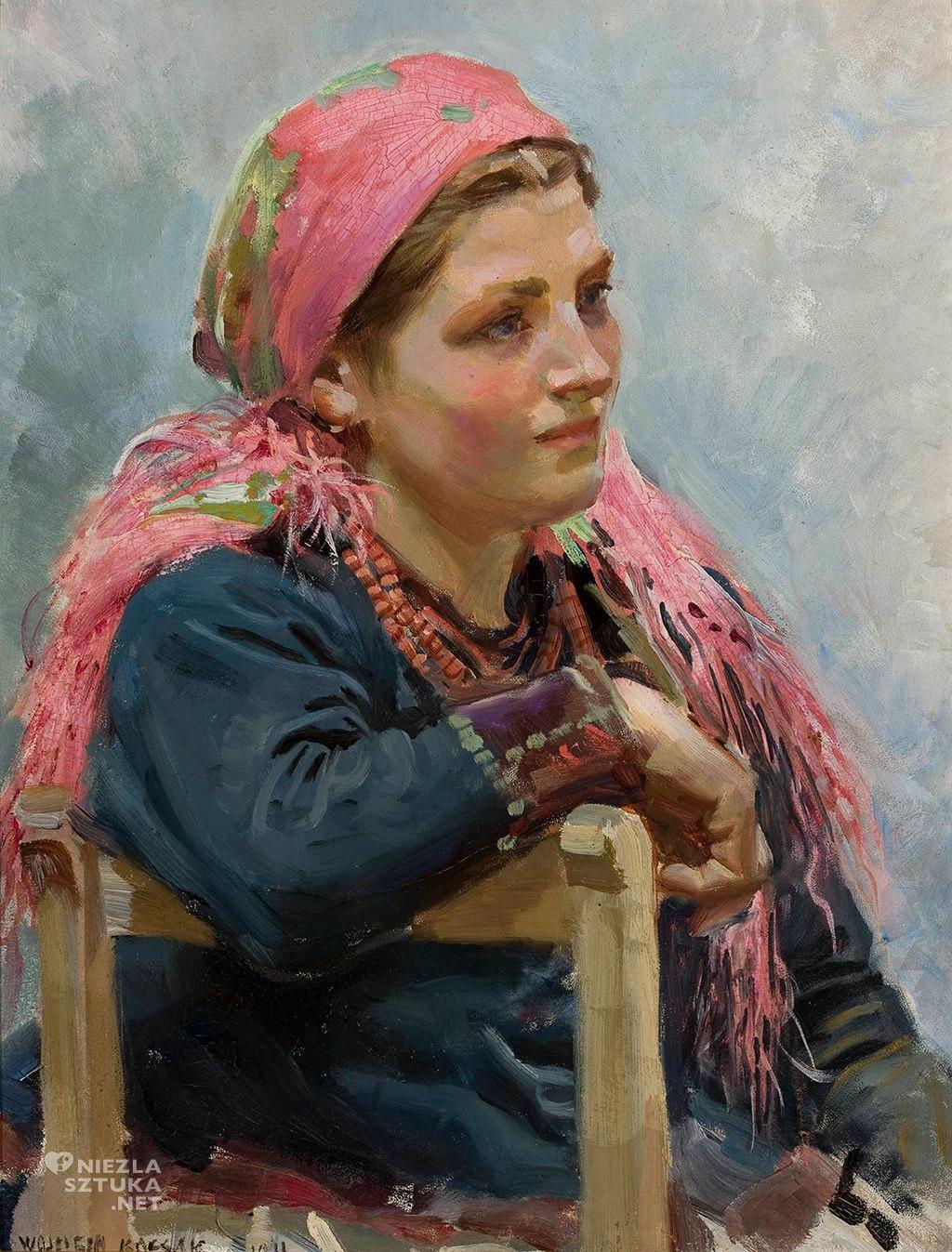 Wojciech Kossak Studium dziewczyny