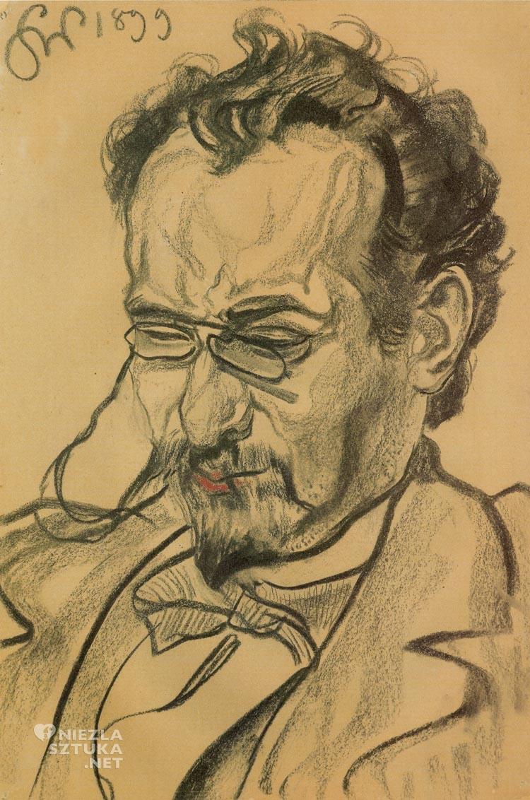 Stanisław Wyspiański Portret, Antoni Lange, portret, Niezła sztuka