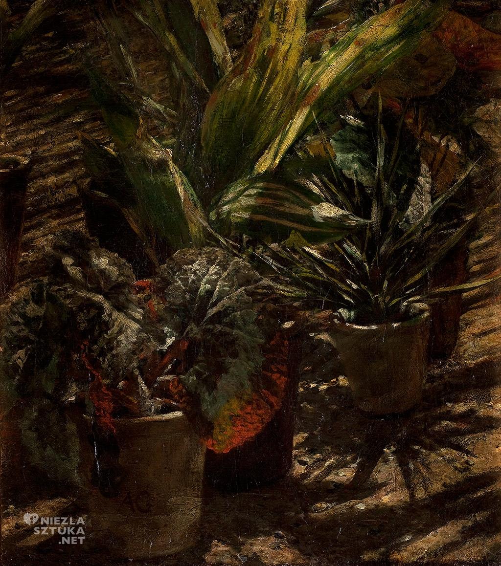 Aleksander Gierymski, Begonie, Altana, Muzeum Pałac Herbst, szkic, Niezła sztuka
