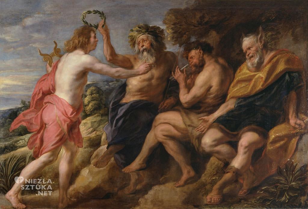 Jacob Jordaens, Apollo zwyciężający fauna, 1636-1638, olej, płótno, Museo Nacional del Prado, Madryt, Niezła sztuka