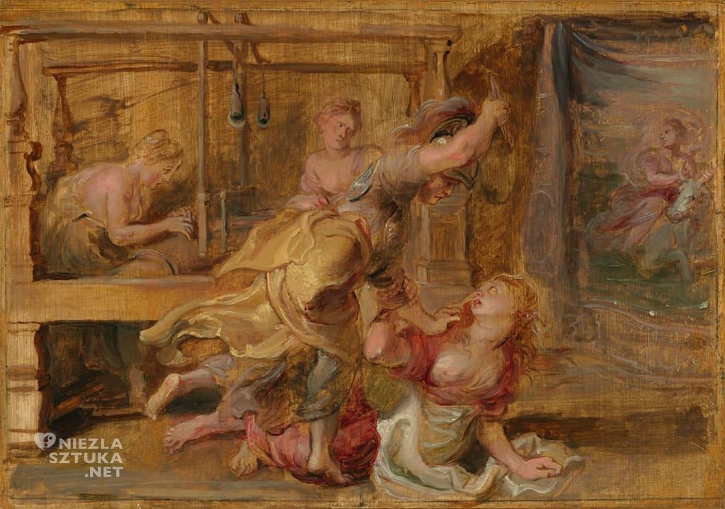 Rubens Pallas Arachne, Niezła sztuka