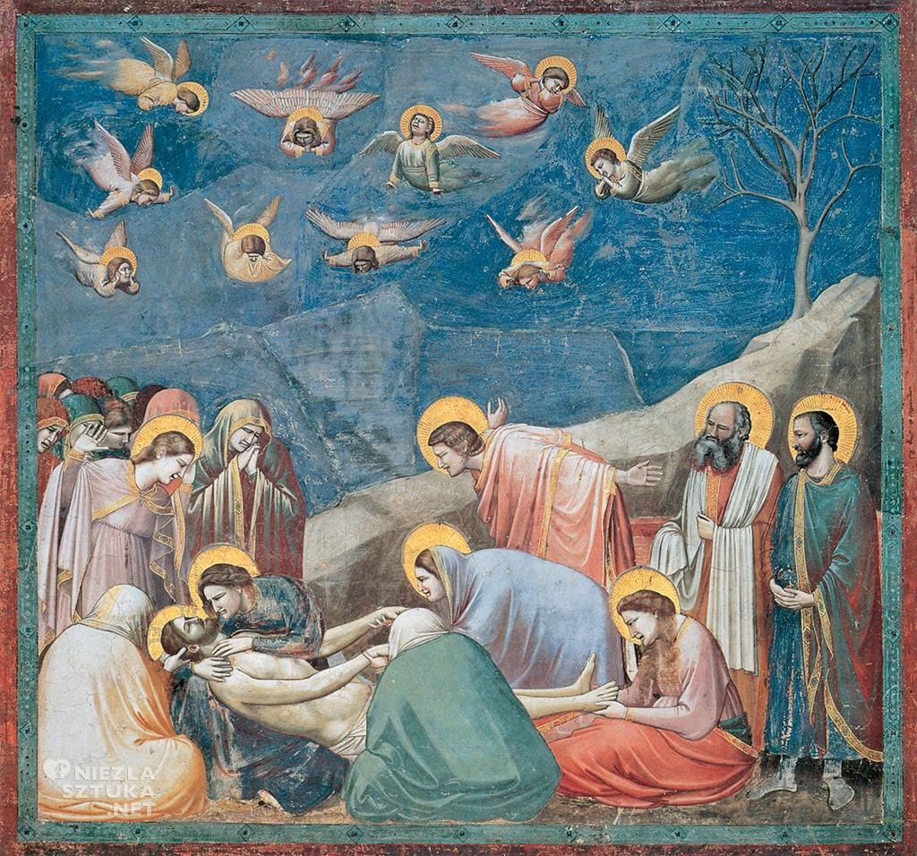 Giotto di Bondone Opłakiwanie fresk Padwa, kaplica Scrovegnich Niezła sztuka